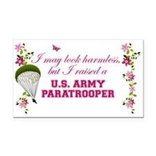 I Raised A Paratrooper Rectangle Car Magnet