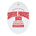 Surfers Paradise Beach Oval Ornament