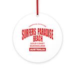 Surfers Paradise Beach Ornament (Round)