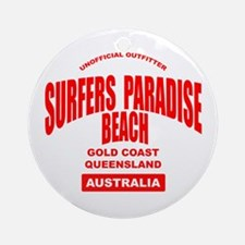 Surfers Paradise Beach Ornament (Round)