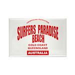 Surfers Paradise Beach Rectangle Magnet