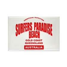 Surfers Paradise Beach Rectangle Magnet