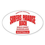Surfers Paradise Beach Oval Sticker