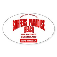 Surfers Paradise Beach Oval Decal