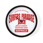 Surfers Paradise Beach Wall Clock