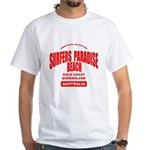 Surfers Paradise Beach White T-Shirt
