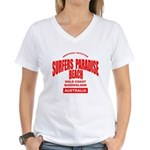 Surfers Paradise Beach Women's V-Neck T-Shirt
