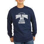 Surfers Paradise Beach Long Sleeve Dark T-Shirt