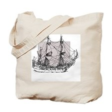 Antique tall ship Tote Bag
