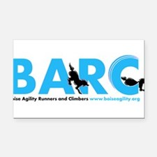 BARC Logo in Blue Rectangle Car Magnet