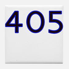 405 blue Tile Coaster