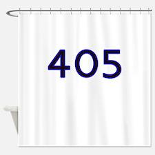 405 blue Shower Curtain