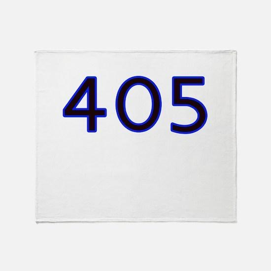 405 blue Throw Blanket