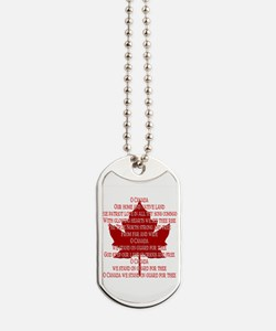 Canada Anthem Souvenir Dog Tags