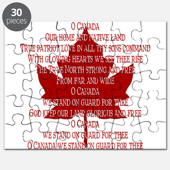 Canada Anthem Souvenir Puzzle