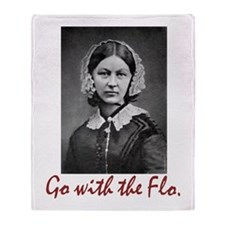 Go With Florence Nightingale! Throw Blanket