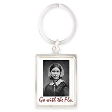 Go With Florence Nightingale! Portrait Keychains