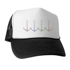 4 coloured anchors Trucker Hat