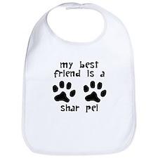 My Best Friend Is A Shar Pei Bib