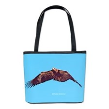 Juvenile Bald Eagle Fly By Bucket Bag