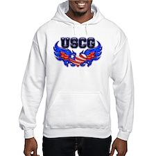 USCG Heart Flag Hoodie