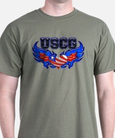 USCG Heart Flag T-Shirt