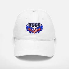 USCG Heart Flag Baseball Baseball Cap