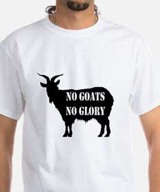 No goats no glory invisible text goat x lar T-Shir