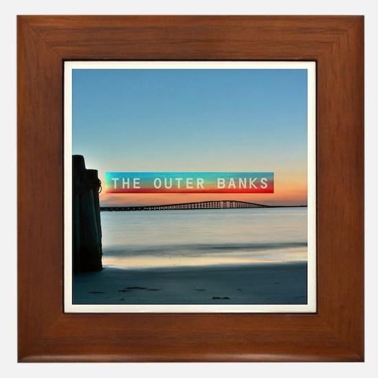 The Outer Banks. Framed Tile