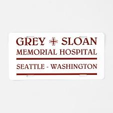 GREY SLOAN MEMORIAL HOSPITAL Aluminum License Plat