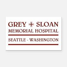 GREY SLOAN MEMORIAL HOSPITAL Rectangle Car Magnet