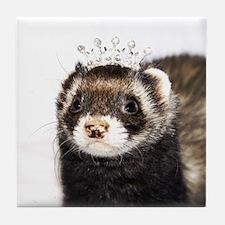 Princess Zoe Ferret Tile Coaster