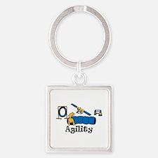 Agility Square Keychain