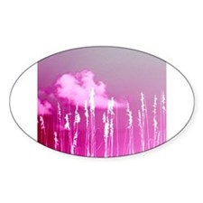 pink sky white sea oats Decal