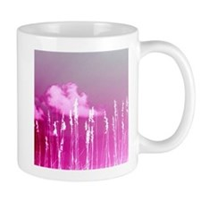 pink sky white sea oats Mugs