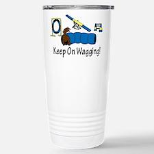 Agility Dog Brown Travel Mug