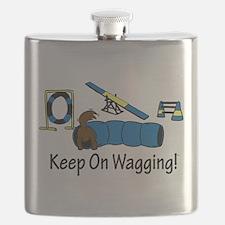 Agility Dog Brown Flask