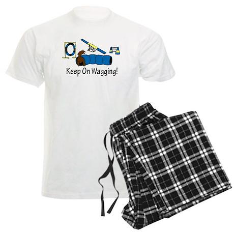 Agility Dog Brown Men's Light Pajamas