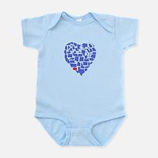 Washington Heart Infant Bodysuit