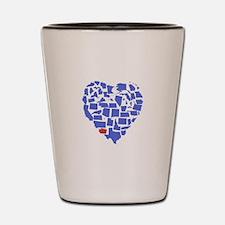Washington Heart Shot Glass