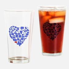 Washington Heart Drinking Glass
