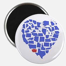 Washington Heart Magnet