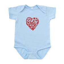 West Virginia Heart Infant Bodysuit