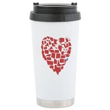 West Virginia Heart Travel Mug