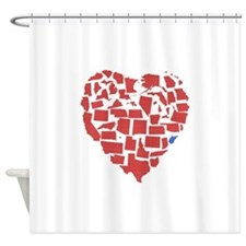 West Virginia Heart Shower Curtain