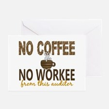 Auditor No Coffee No Wor Greeting Cards (Pk of 20)