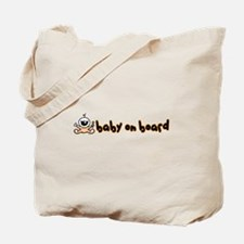 Baby on Board orange Tote Bag