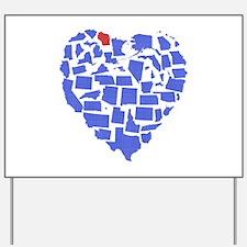 Wisconsin Heart Yard Sign