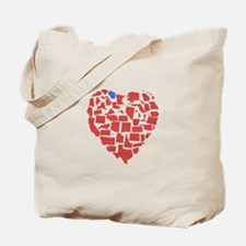 Wisconsin Heart Tote Bag