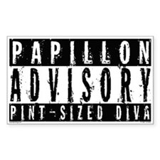 Papillon Pint-Sized Diva Rectangle Decal